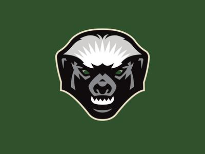 Green rattan partial logo mellivora capensis sports ratel honey badger sportslogo basketball logo streetball basketball