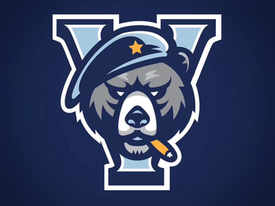 Veterans secondary logo medal veteran bear sports basketball