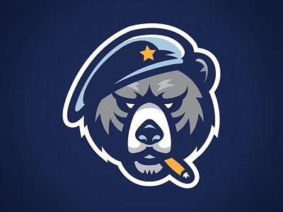 Veterans partial logo medal veteran bear basketball