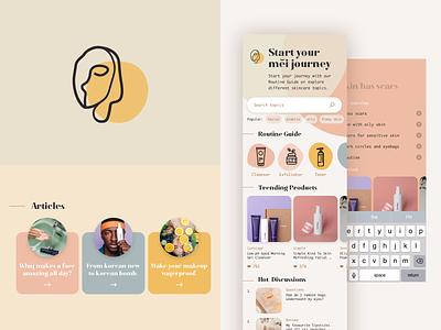 Beauty App - Mei app branding ui