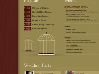 Wedding Site wedding fern champagne