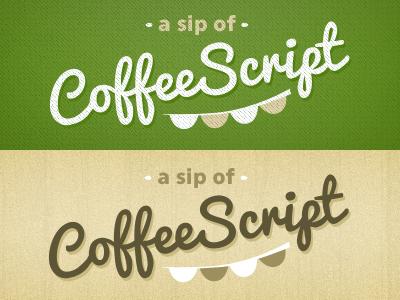 Sip of CoffeeScript green coffeescript codeschool pacifico