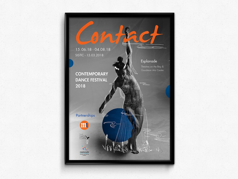 Contemporary Dance Event - Poster Design print design brand branding identity art direction branding print graphic design poster