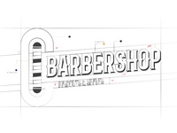 C Barbershop Logo Construction
