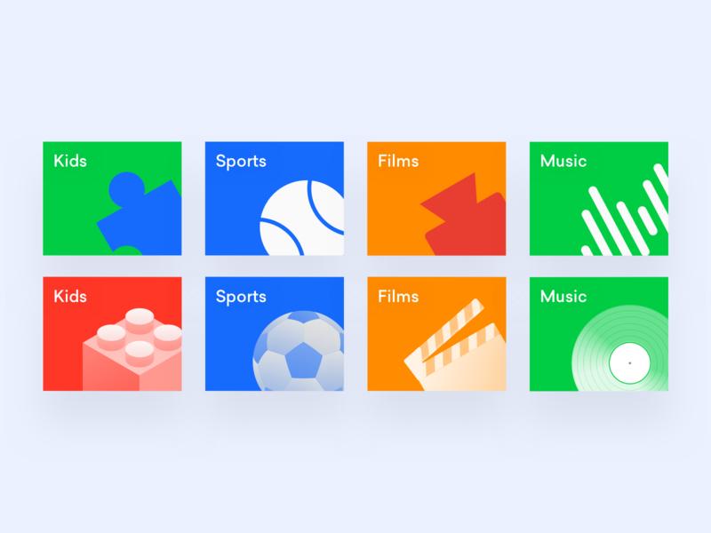 Categories — iconography exploration design icon vector branding illustration minimal ui design music film sport kids categories iconography icons ui