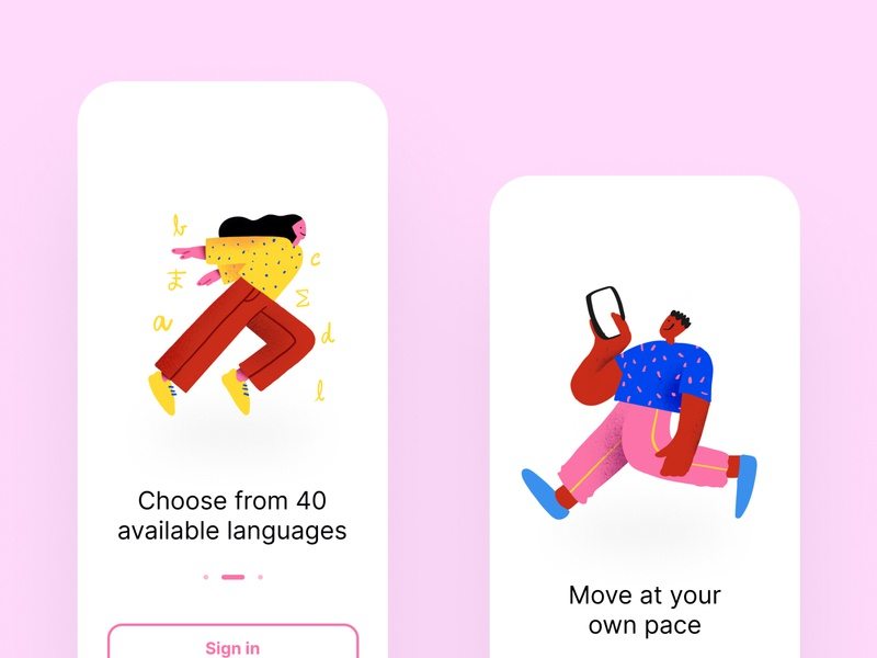 Onboarding illustrations illustrator drawing steps onboarding app procreate ipadpro mobile iphone x ux clean illustration design ui