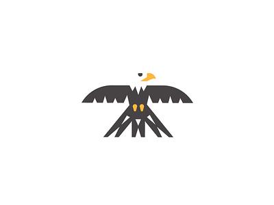 Eagle Mark abstract crisp advice illustration concept simple logo clean branding graphic design
