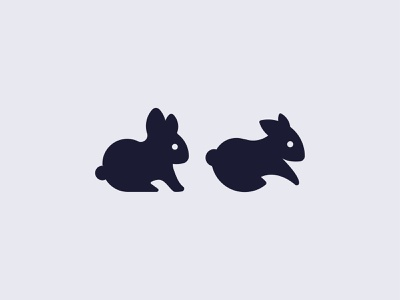 Rabbit Mark x2 ideas clean fresh crisp pick one graphic design mark logo advice
