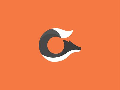 Fox concept fox letter c color simple for sale branding advice logo clean graphic design