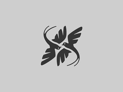 Dancing Sparrows bird abstract concept company for sale clean crisp crisp dribbble club design vector simple branding logo clean sparrows dancing graphic design