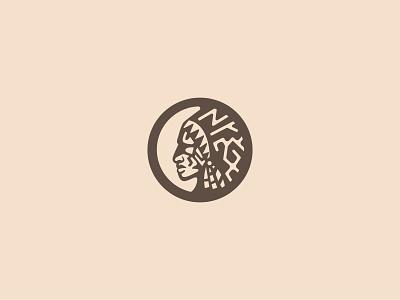 Native American Stencil abstract for sale illustration crisp design symbol logo mark symbol icon native american concept branding simple logo clean circle stencil logo mark