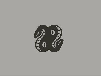 Snake Eyes Mark eyes snake clean vector illustration concept branding logo graphic design