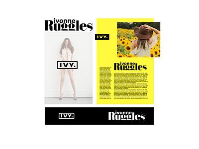 IVY Branding 'Blogger' Mockup concept simple branding graphic design clean