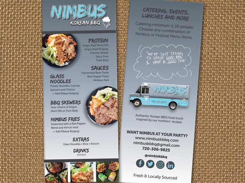Nimbus Korean Bbq Menu By Stephanie Read Design Dribbble Dribbble