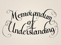 Memorandum of Undersanding