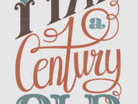 Lettering Bday poster