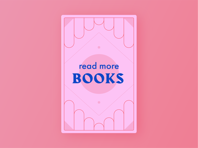 Read More Books book cover 2020 resolution book pink colorful illustration typography weekly warmup
