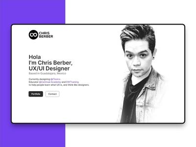 Personal Web Design madewithadobexd own personal website web ux ui madewithxd desktop design concept adobe xd adobe