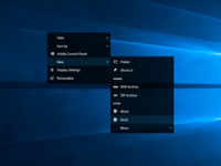 Windows 10 Context Menu   Desktop
