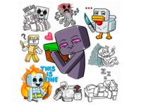 Minecraft stickers for Telegram