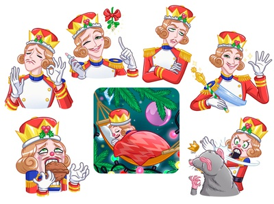 Nutcracker for Christmas/New Year sticker pack
