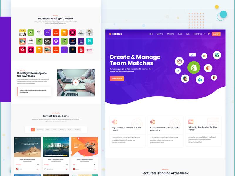 makplus 2019 design trend dokan digital marketplace woocommerce theme website