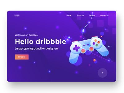 Welcome shot 2019 design trend homepage landing page website ux ui flat web design illustration