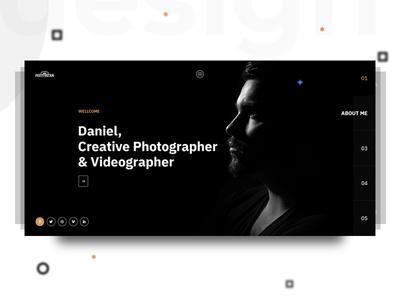 Photographer template (Header) theme template resume cv design header personal portfolio photographer