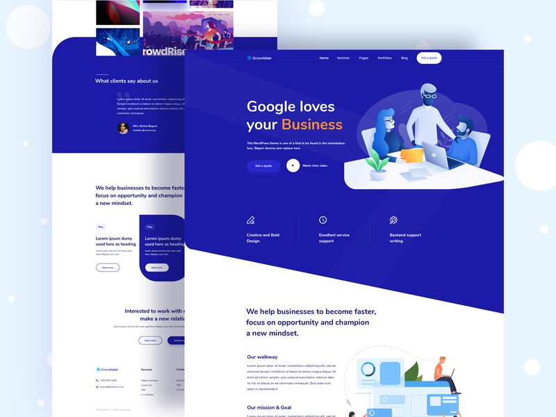 Landing page design live design features page colorful team blog page contact us page service page seo startup digital agency agency landing page app landing page homepage landing page
