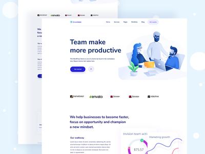 Team management apps landing page