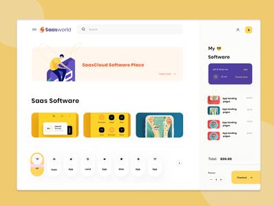 Software Page Design branding 2019 design trend agency software design software digital agency ui design website homepage