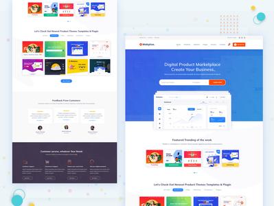 Makplus - Digital Marketplace ui seo app landing page agency 2019 design trend digital agency landing page design website homepage