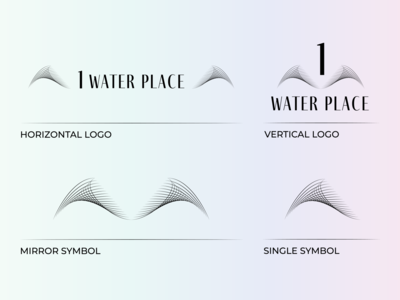 One Water Place Logo Variations for Concept #2 logos concept residential visual identity brand identity brand design logo design vector logo branding digital