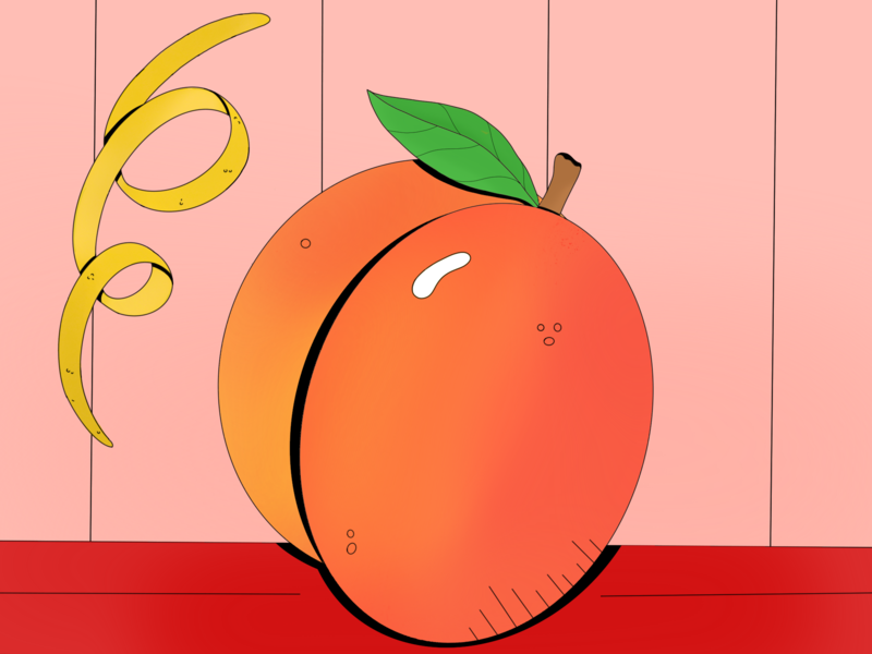 Peachy Illustration peaches food and drink food and beverage food digital digital illustration still life design art gradients color gradient procreate illustration peachy peach digital art