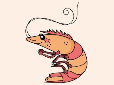 Peel Branding: Little Gulf Shrimp Illustration