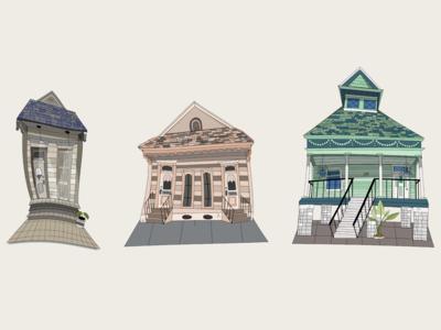 les maisons   nola home illustrations