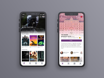 Movie App Concept concept app sketch app design