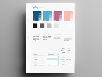 Galaxy Blog Style Guide (WIP) style guide blog design sketch app