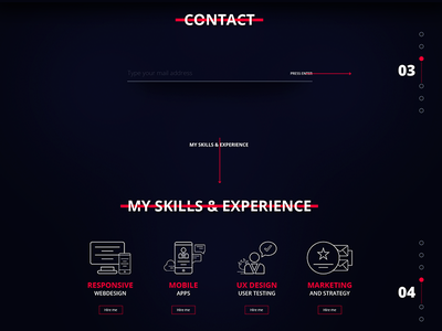 Freelancer website is coming site onpage singlepage contact wedesign experience skills desig web freelance