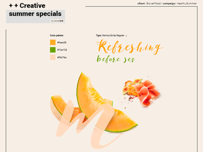 Healthy Summer typo color palette melone fruit fruits campaign poster keyvisual visual healthy summer sex