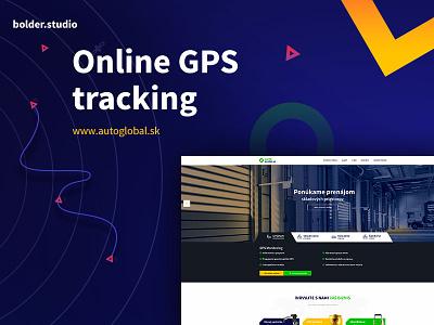 Autoglobal - Online GPS tracking online ux webdesign warehouse bolder.studio tracking gps color logistic cargo yellow blue
