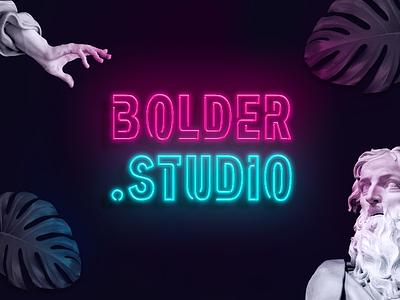 NE.ON studio typography stripper lettering glow 80s retro neon