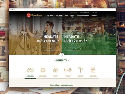 Pilsner HR website visual page landing illustration humanresource homepage design concept beer