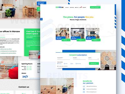 coworking office renting clean experience design website web uxdesign uidesign ui homepage