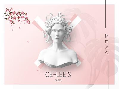 CE-LEES Paris e-shop visual style widget ui product header fashion card