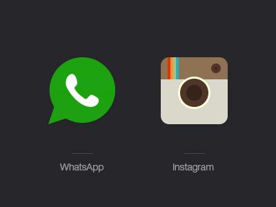 Social Icons whatsapp instagram icons social psd