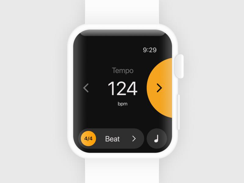 Haptic metronome app