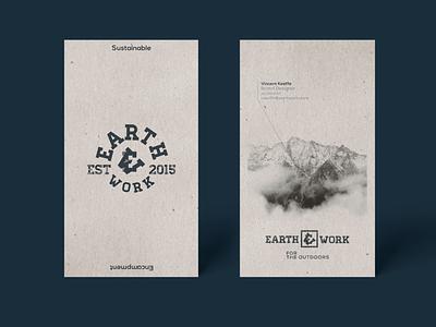 Earthwork Brand typography branding logo design