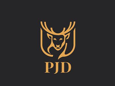 PJD Construction Inc. vector typography logo design branding