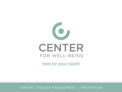 Center For Well-Being illustration brand identity logo design branding